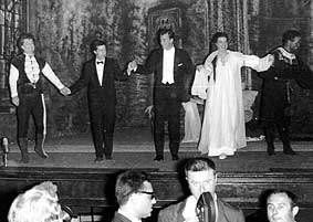 Desdemona in Verdi's <i>Otello</i> at the Festivale dei Due Mondi Spoleto under Thomas Schippers-Left to right: Peter Glossop (Iago), Tony Walton (<i>sets</i>/costumes), Thomas Schippers (<i>conductor</i>/ direct