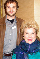 Jordan Shanahan and Jane Marsh  (OPERA INDEX winner, who attended Jane's 2005 Opera Index lecture,